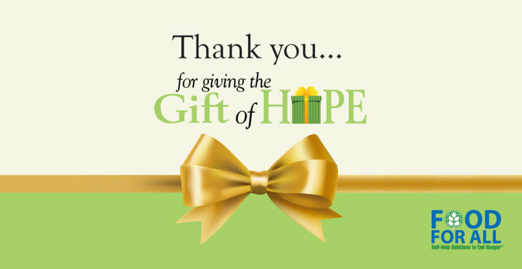 Thank you for giving the Gift of Hope