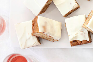 Ginger-Macadamia Nut Blondies with White Chocolate
